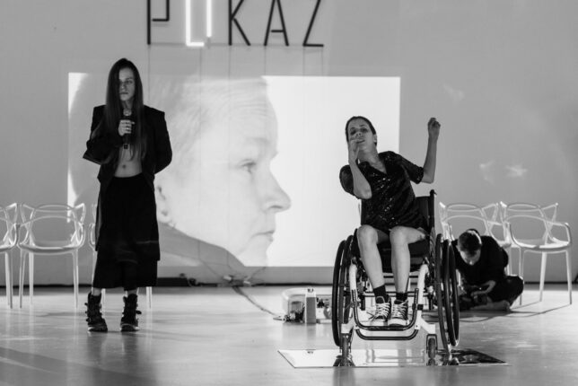 """Teatr 21 """"PokaZ"""" – reż. Justyna Wielgus. Fot. Paweł Kuligowski"""