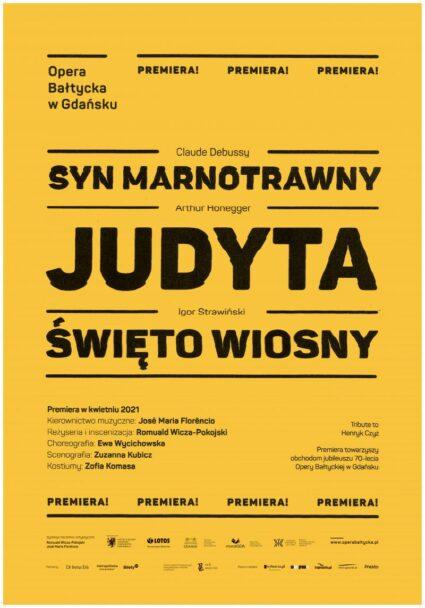 Zdjęcie: Opera Bałtycka: Jutro premiera spektaklu Judyta/Syn marnotrawny/Święto wiosny