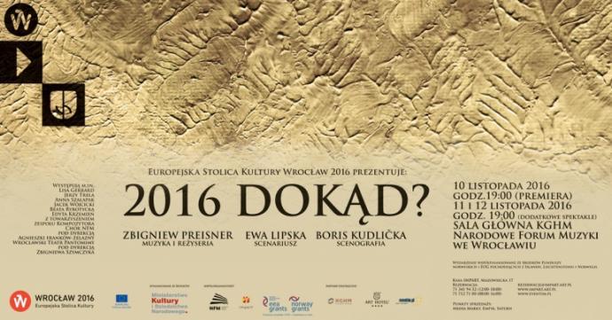 """Zdjęcie: Wrocław: Wrocławski Teatr Pantomimy """"2016 Dokąd?"""""""