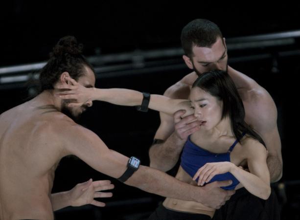 """Zdjęcie: Lublin/XX Międzynarodowe Spotkania Teatrów Tańca/Kino Mistrzów Tańca: Compagnie Linga (Szwajcaria) """"Re:mapping the body"""""""