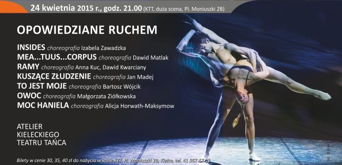 """Zdjęcie: Kielce/XV Festiwal Tańca Kielce 2015/Atelier Kieleckiego Teatru Tańca """"Opowiedziane ruchem"""""""