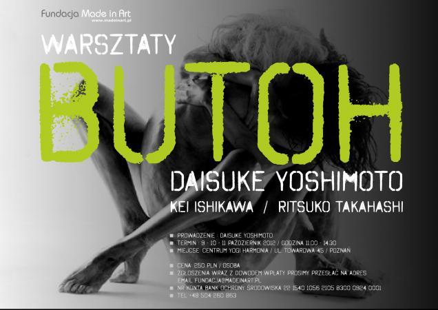 Zdjęcie: Poznań: Warsztaty butoh. Prowadzenie: Daisuke Yoshimoto oraz Kei Ishikawa, Risuko Takahashi