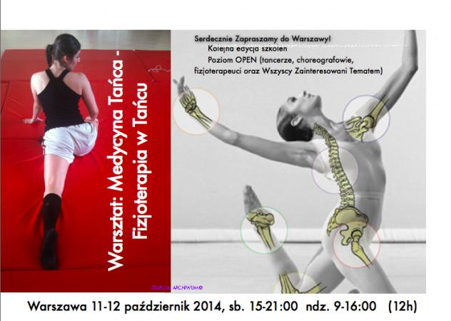 """Zdjęcie: Warszawa: Warsztat """"Medycyna tańca – Fizjoterapia w tańcu"""" – poziom 1. Prowadzenie: Anna Achimowicz"""