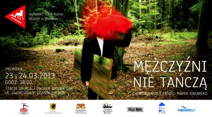 """Zdjęcie: Gdańsk/Teatr Cynada:  Bożena Eltermann, Marek Kakareko """"Mężczyźni nie tańczą"""""""
