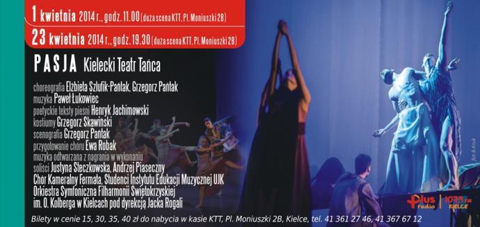 """Zdjęcie: Kielce/XIV Festiwal Tańca Kielce: Kielecki Teatr Tańca """"Pasja"""""""
