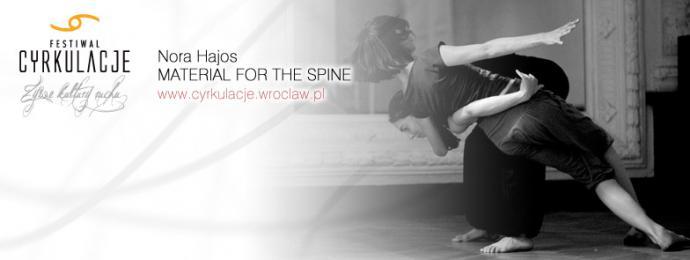 """Zdjęcie: Wrocław/V Festiwal CYRKULACJE: Nórra Hajós """"Material for the spine""""  – otwarte warsztaty"""