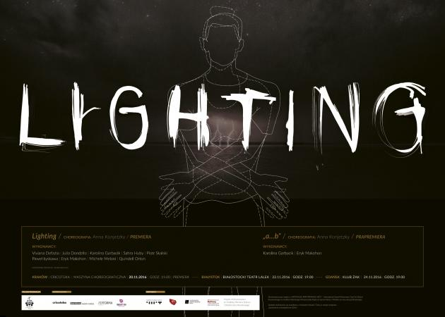 """Zdjęcie: Białystok/Zamówienia choreograficzne 2016: Anna Konjetzky """"Lighting"""" i """"a…b"""""""