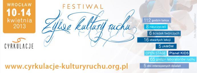 Zdjęcie: Wrocław/Cyrkulacje 2013/Ścieżki twórcze: Dawid Lorenc – techniki tańca współczesnego