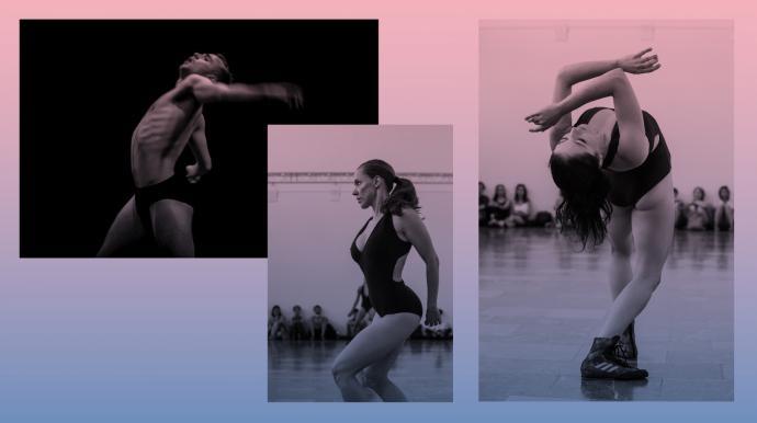 """Zdjęcie: Warszawa/XVI Międzynarodowy Festiwal Tańca ZAWIROWANIA: Agnieszka Kryst """"Łuczniczki"""", Lukas Karvelis """"Blank Spots"""""""