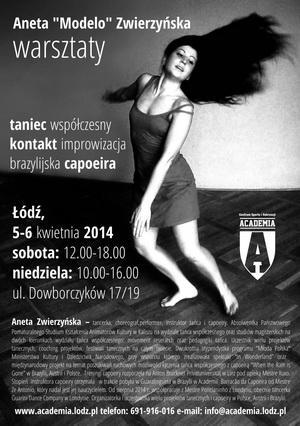 Zdjęcie: Łódź: Taniec współczesny, kontakt improwizacja i  capoeira – warsztaty z Anetą Zwierzyńską