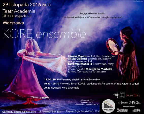"Zdjęcie: Warszawa/Kore Ensemble – Mit, Rytuał i taniec z Apulii: ""KORE"" – chor. Maristella Martella"