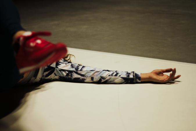 """Zdjęcie: Lublin/XX Międzynarodowe Spotkania Teatrów Tańca: Hygin Delimat, Josseline Black (Polska/Austria) """"Metabird: Nasza Etologia"""""""