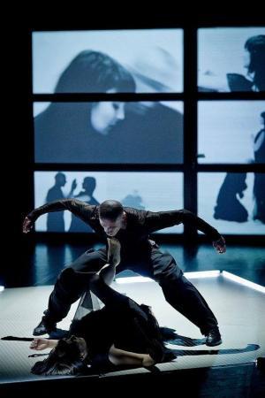 """Zdjęcie: Sopot: Sopocki Teatr Tańca """"Vitruvian Man. Preludium"""" i """"Wariat i zakonnica"""" (taniec: Jacek Krawczyk, Izabela Sokołowska)"""