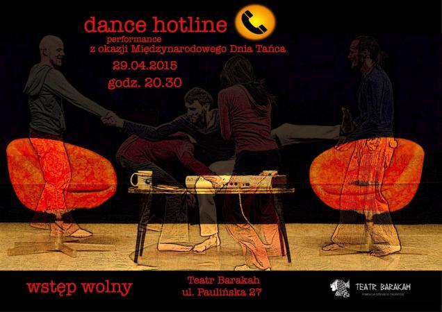 """Zdjęcie: Kraków/Międzynarodowy Dzień Tańca: Obszar tańca w Teatrze Barakah/Teatr Barakah i EST """"Dance Hotline"""""""