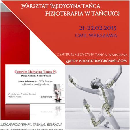 """Zdjęcie: Warszawa: Anna Achimowicz """"Medycyna tańca – fizjoterapia w tańcu (poziom 1)"""" – szkolenie"""