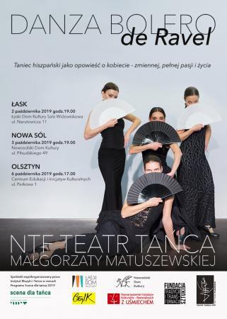 """Zdjęcie: Łask/Scena dla tańca 2019: NTF Teatr Tańca Małgorzaty Matuszewskiej """"Danza Bolero de Ravel"""""""