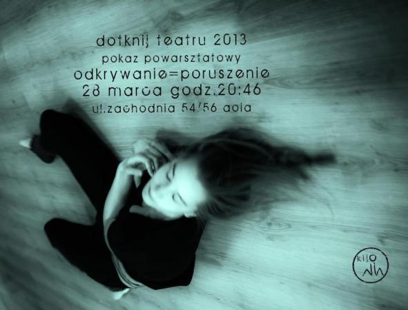 """Zdjęcie: Łódź/Międzynarodowy Dzień Teatru: """"Dotknij Teatru – Odkrywanie"""" – projekt Grupy KIJO"""