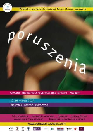 Zdjęcie: Białystok/Poznań/Warszawa: PORUSZENIA 2014 –  Otwarte Spotkania z Terapią Tańcem i Ruchem
