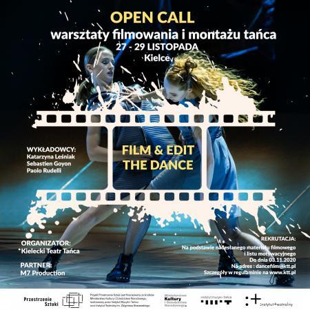 """Zdjęcie: Kielce/Przestrzenie Sztuki: """"Film and Edit THE DANCE!"""" – warsztaty filmowania i montażu tańca"""