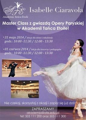 Zdjęcie: Warszawa: Isabelle Ciaravola – master class z primabaleriną  Opery Paryskiej