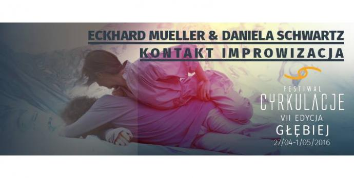 """Zdjęcie: Wrocław/VII Festiwal CYRKULACJE: Daniela Schwartz, Eckhard Mueller """"Ruchomość: potencjał wielokierunkowości"""" – ścieżka twórcza"""