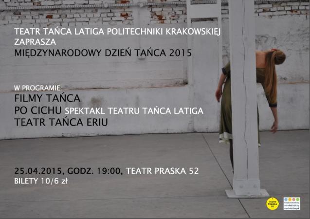 Zdjęcie: Kraków: Obchody Międzynarodowego Dnia Tańca 2015 – pokazy filmów i spektakli w Teatrze Praska 52