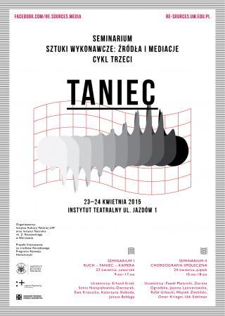 """Zdjęcie: Warszawa: Otwarte seminarium """"SZTUKI WYKONAWCZE: Źródła i mediacje. TANIEC"""""""