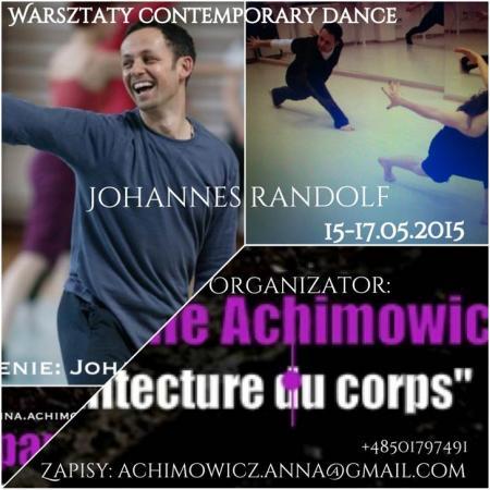"""Zdjęcie: Warszawa/Theatre Companie Achimowicz: Johannes Randolf """"Contemporary dance"""" – warsztaty"""