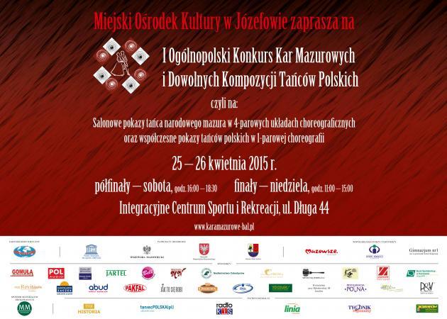 Zdjęcie: Józefów: I Ogólnopolski Konkurs Kar Mazurowych i Dowolnych Kompozycji Tańców Polskich