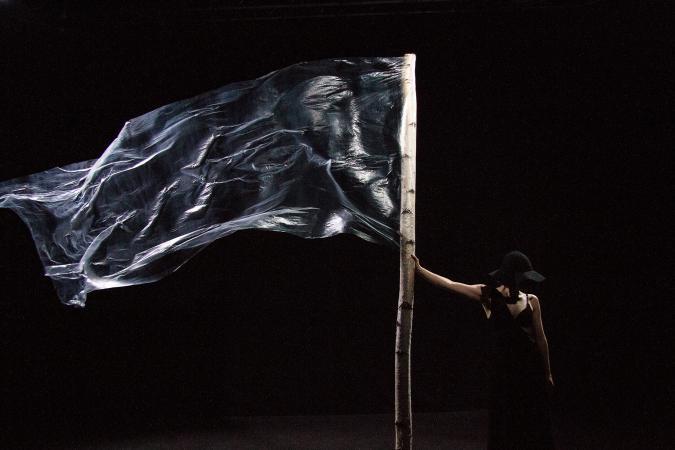 """Zdjęcie: Bytom: Teatr ROZBARK """"zjednoczone stany zmyślone"""" – opieka art. Anna Piotrowska"""