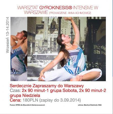 Zdjęcie: Warszawa: Warsztat GYROKINESIS® Intensive. Prowadzenie: Anna Achimowicz