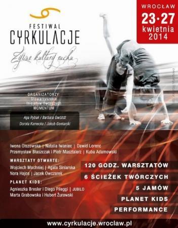 """Zdjęcie: Wrocław: V Festiwal CYRKULACJE """"Żywe Kultury Ruchu"""""""